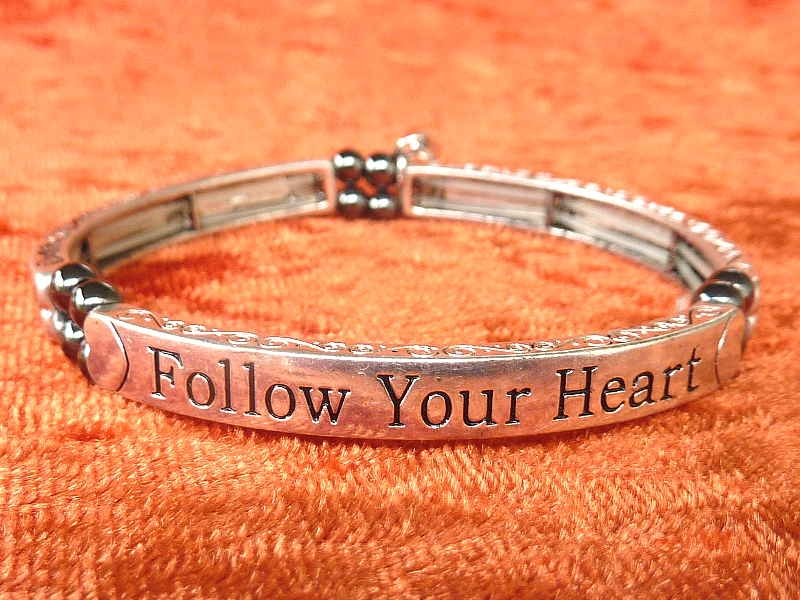 "Armband  Affirmation ""Follow your heart"" mit Magneten"