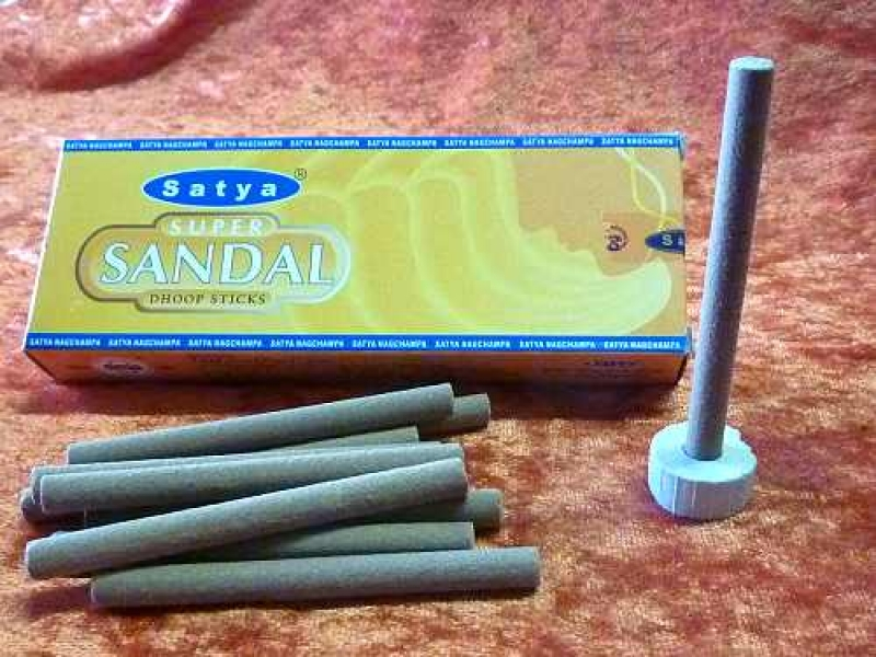 Satya Super Sandal Dhoop Sticks   10 Stck